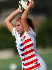 Izzy Rodriguez has 19 caps with the U.S.A. U-20 women's
