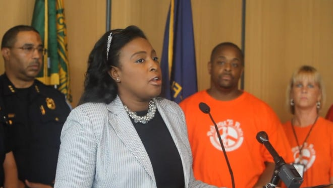 Mayor Lovely Warren on Thursday speaks to media about Wednesday night's mass shooting.