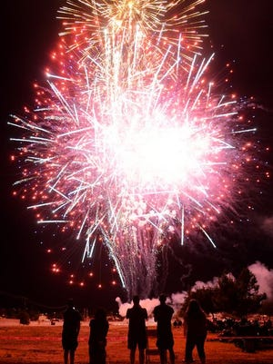 FIireworks will light the skies east of Taft Saturday night