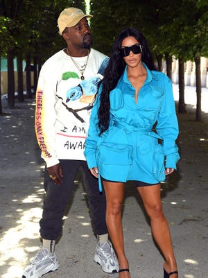 Stars turned up for the Louis Vuitton Menswear Spring/Summer 2019 fashion show in Paris Thursday, including Kanye West and Kim Kardashian West.