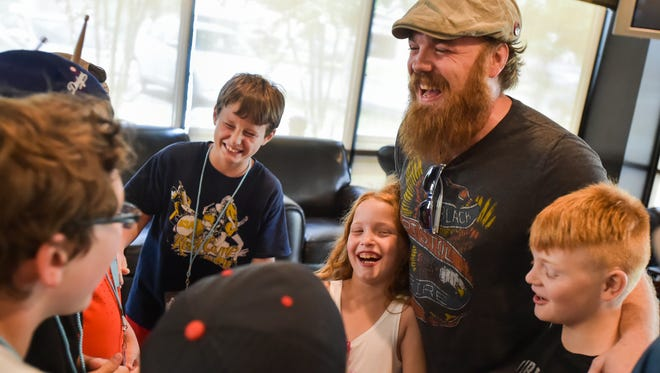 Marc Broussard drop by the Acadiana School for the Arts Kids Rock Camp at The Bayou Church. June 23, 2016.
