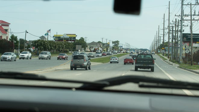 Traffic along Del 1 in Lewes.