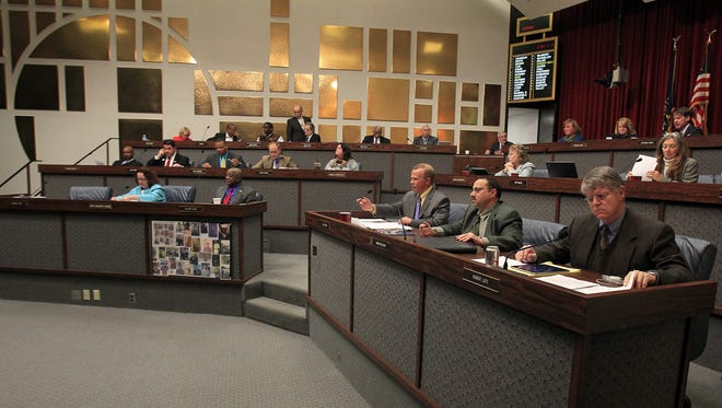 The City-County Council meets, Monday, November 11, 2013, inside the City-County Building. Brent Drinkut/The Star