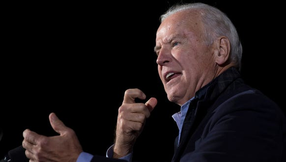 Vice President Joe Biden speaks during a campaign rally
