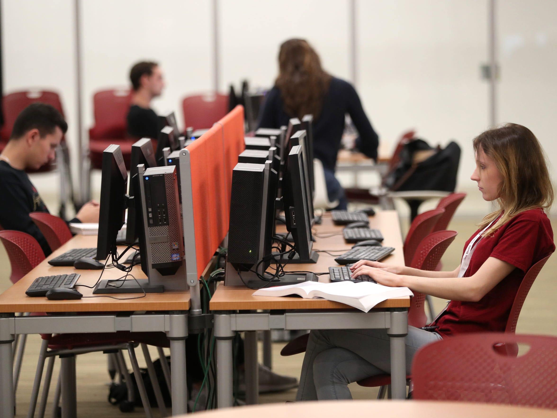 Students study at the Academic Center for Excellence