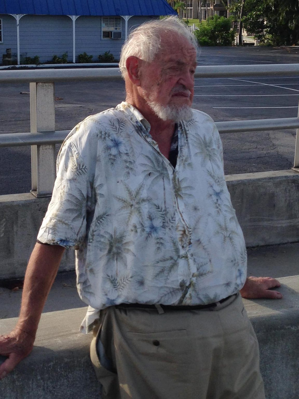 Lee Luenser, the driver, shortly after the July 2014