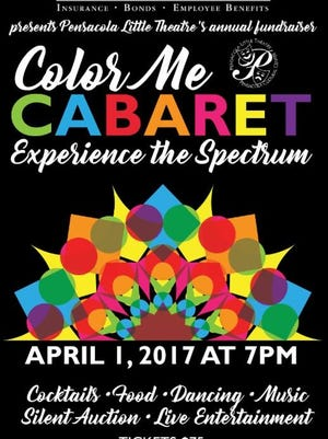 The Pensacola Little Theatre's Color Me Cabaret fundraising event will be held April 1 at 7 p.m.