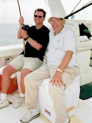 David Brown on a fishing trip with Russ Mawby.