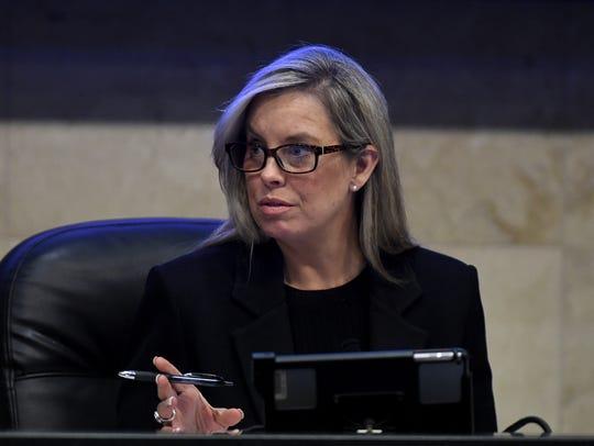 Reno Mayor Hillary Schieve Dec. 13, 2017 Reno council