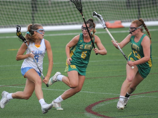 Cape Henlopen's Alia Marshall (left), a standout in lacrosse and field hockey, has received a $2,000 scholarship from the Delaware Interscholastic Athletic Association, one of six winners for this school year.