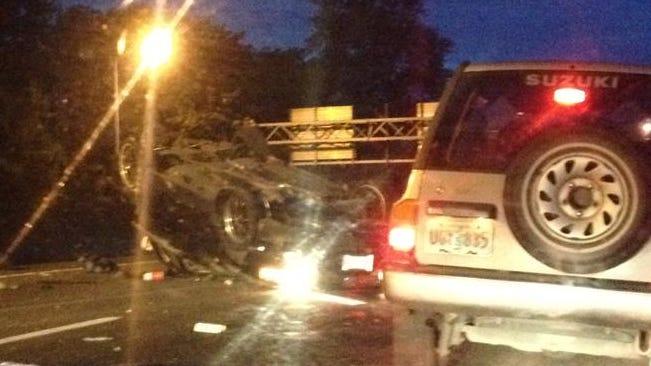 Crash on Highway 22 Tuesday morning.