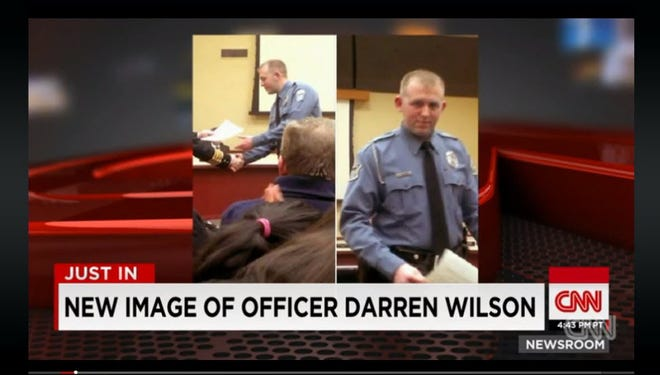 News outlets are reporting that this image depicts Darren Wilson of the Ferguson police. USA TODAY has not independently confirmed this information.