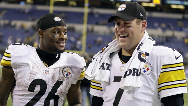 The Giants will have their hands full on Sunday going up against quarterback Ben Roethlisberger, right, running back Le'Veon Bell and the rest of the Pittsburgh Steelers at Heinz Field.