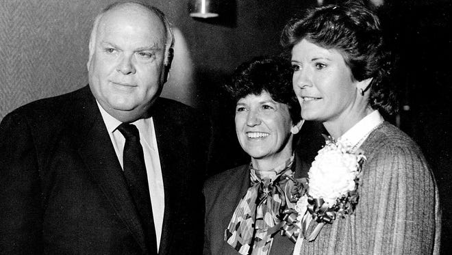 Pat Head Summitt is pictured with former Gov. Ned Ray McWherter and Dr. Margaret Perry, UT Martin chancellor emeritus, in this vintage photo. Summitt, who passed away June 28, will be remembered during a celebration of life service Thursday at Thompson-Boling Arena in Knoxville. The public is invited to view a live webcast of the service at 6 p.m. in UT Martin's Watkins Auditorium.