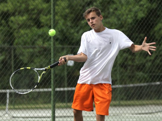 Blake Webster repeated as champ in boys 16 singles at the 83rd News Journal/Richland Bank Tennis Tournament, beating his cousin, Luke Webster.