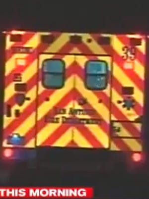 An San Antonio Fire Department ambulance takes a woman who reported an attempted sexual assault Jan. 27, 2014, to an area hospital.