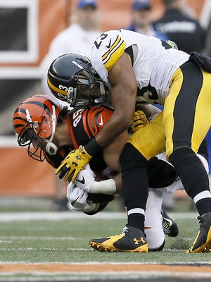 All eyes will be on Pittsburgh free safety Mike Mitchell when the Steelers return to Paul Brown Stadium on Saturday.