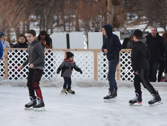 The new ice skating rink in Passaic's Third Ward Park