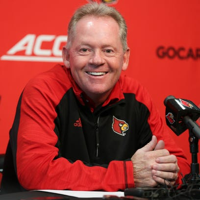 Bobby Petrino addresses the media during his weekly