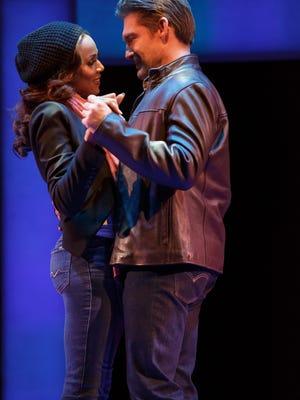 """Deborah Cox as Rachel Marron and Judson Mills as Frank Farmer in """"The Bodyguard: The Musical."""""""