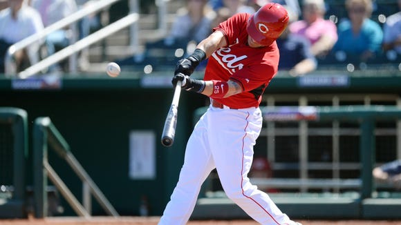 Skip Schumaker had a double and a home run, and is hitting .550 on the spring.