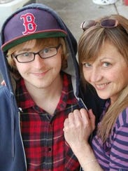 Kim Chilcott is pictured with her son, Thad, who died
