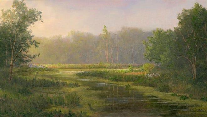 """""""Marsh Scene"""" by Tarryl Gabel is an example of her plein air work."""