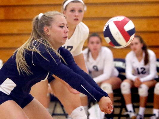 Whitnall Girls Volleyball vs Greenfield