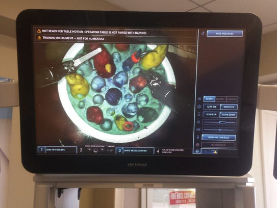 This screen shows you what a doctor sees when performing
