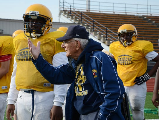 Longtime Battle Creek Central coach, Al Leibert, at