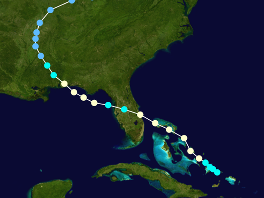 Hurricane Erin made a double impact in Florida in 1995.
