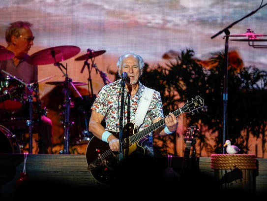 Jimmy Buffett performs at Wells Fargo Arena on Tuesday,