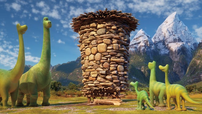 The Apatosaur family keeps a silo of food for when the weather gets bad.