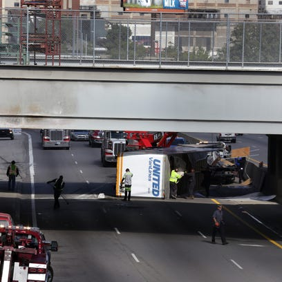 A semi rollover has shut down southbound I-75 at I-94