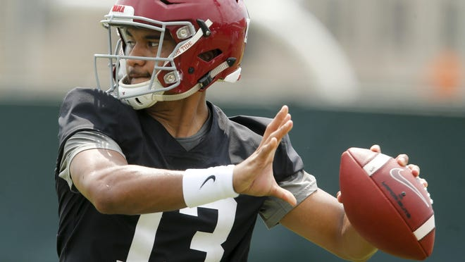 Alabama quarterback Tua Tagovailoa is the overwhelming favorite to land with the Dolphins, provided doctors clear him.