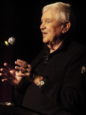 Former Texas Tech football coach Spike Dykes speaks at the second annual PlayMaker event Jan. 31, 2015, at the Paramount Theatre in Abilene.