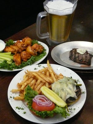The menu at Cheers in Cocoa and Rockledge offers a variety of dishes including burgers, steaks, seafood and wings.