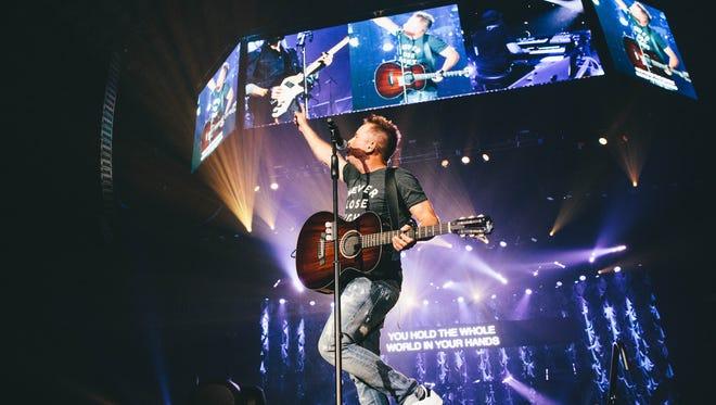 "Chris Tomlin performs as part of the ""Worship Night in America"" tour at San Antonio's Freeman Coliseum."