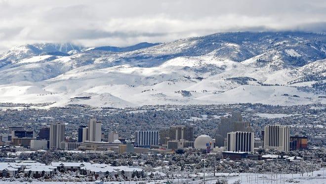Reno-Sparks residents woke up to plenty of snow on Tuesday Nov. 10, 2015.