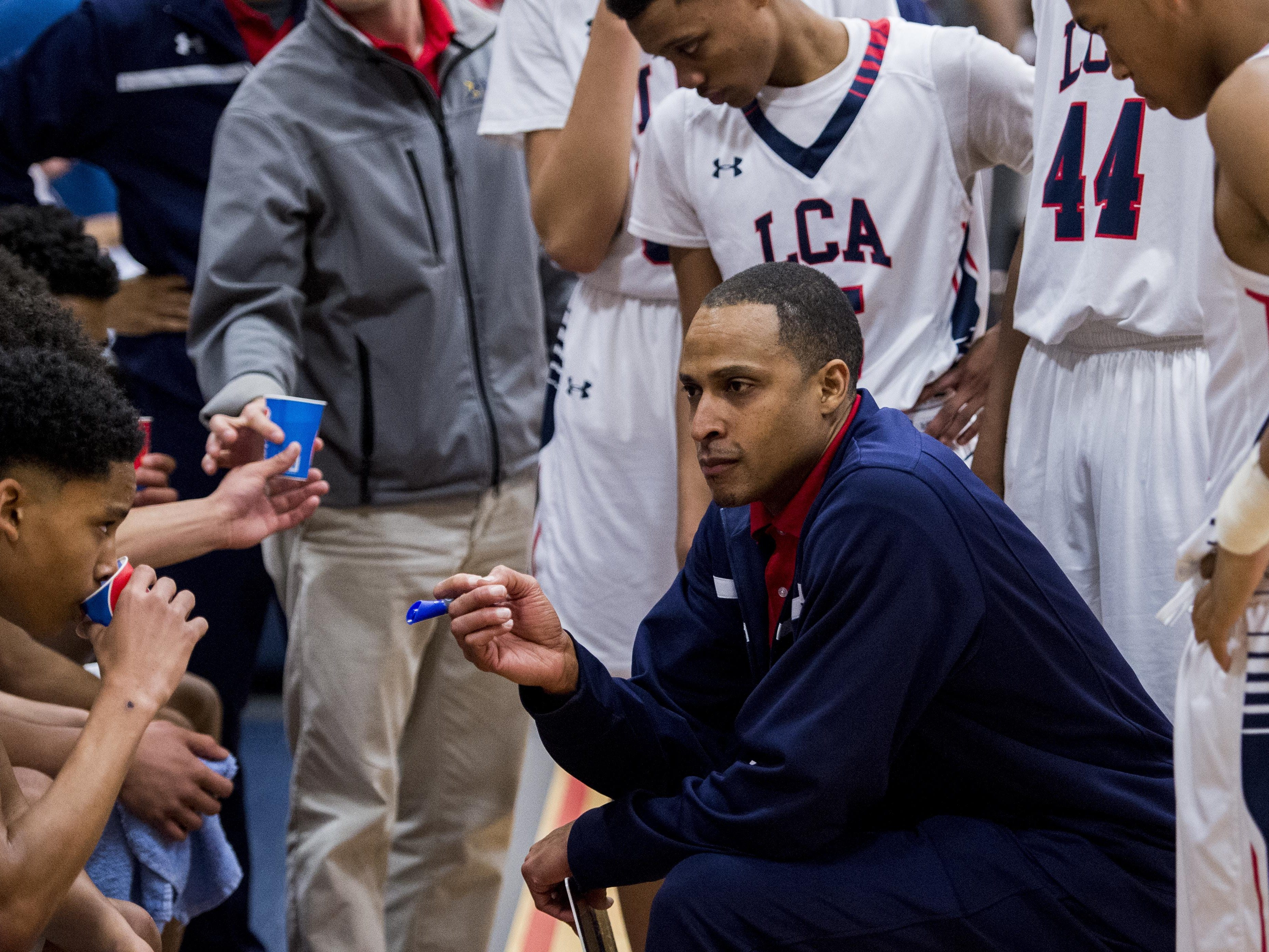 LCA coach Byron Starks and his Knights return back to campus for their 2015-16 home opener on Tuesday against last year's District 5-4A champion St. Martinville.