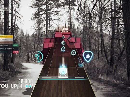 A screenshot from 'Guitar Hero Live' and its new GH