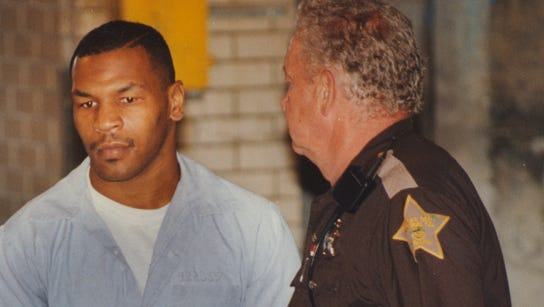 Mike Tyson is taken to court on June 13, 1994, for