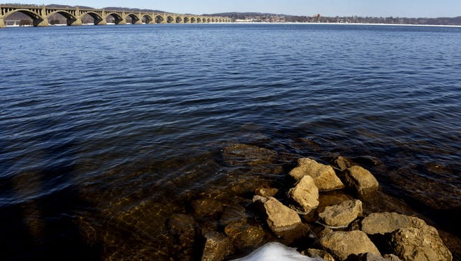 The Susquehanna River is seen from the Wrightsville boat access in this photo.