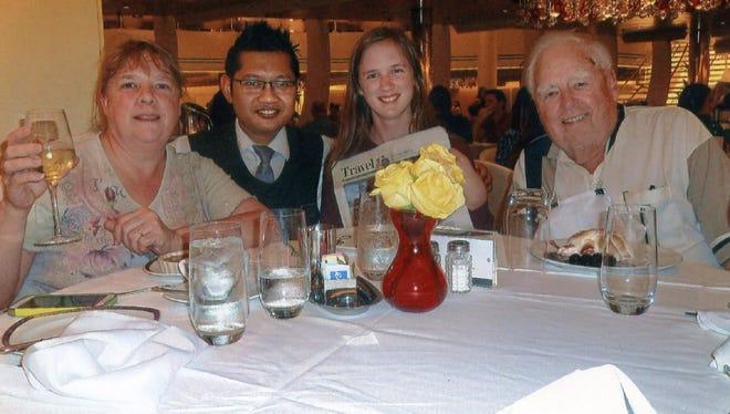 my daughter Amy, her daughter Sally, waiter Redi and Robert of Domanski.