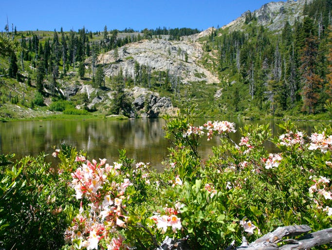 Lonesome Lake in the Red Buttes Wilderness on the border of Southern Oregon and Northern California.