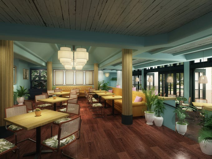 Resort's new island-themed decor is meant to conjure