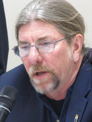 Mark Cooper is a candidate for the Broadlawns Medical Center Board of Trustees. He spoke at a forum Wednesday, Oct. 22, in Des Moines. Broadlawns is Polk County's public hospital.