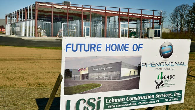 The Welding Training Center is under construction, as seen Tuesday, November 22, 2016 at the intersection of Coffey and Oppertunity avenues in the Cumberland Valley Business Park.