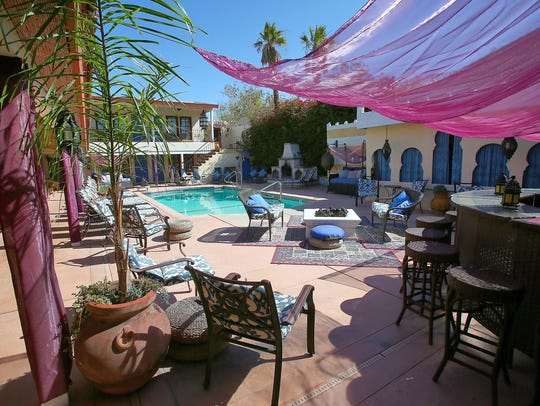 El Morocco Inn and Spa owner Bruce Abney says the Desert Hot Springs resort has been sold out every weekend this summer.