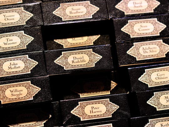 WATFORD, ENGLAND - MARCH 30:  Daniel Radcliffe's wand box on the set of Harry Potter at the Warner Bros. Studio Tour London - The Making of Harry Potter, at Leavesden Studios on March 30, 2012 in Watford, England  (Photo by Gareth Cattermole/Getty Images)